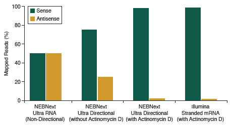 NEBNext Ultra™ Directional RNA produces libraries with high directionality/strand specificity