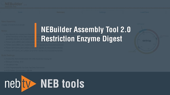 NEBTVToolsNEBuilderAssemblyTool20RestrictionEnzymeDigest1920